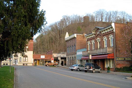 View from the Alderson Historic District, Alderson, WV.