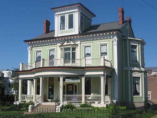 John McLure House (Hans Phillips House, Lawrence Sands House, Daniel Zane House), ca. 1853, 203 South Front Street (Island Historic District), Wheeling, WV, National Register