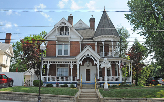 Governors Inn Mansion, ca. 1893, 76 East Main Street, Buckhannon Central Residential Historic District, Buckhannon, WV, National Register