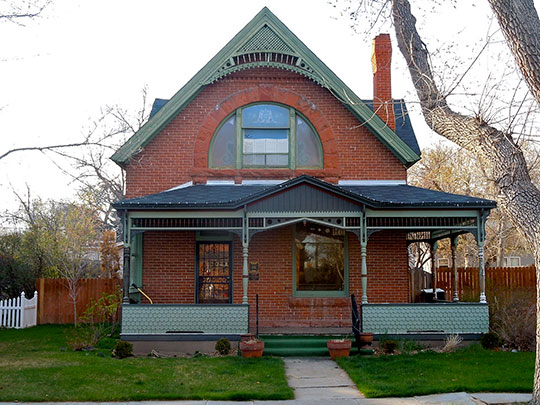 Smith House, 414 Evans Street, Cheyenne, WY, Keefe Row Historic District, National Register