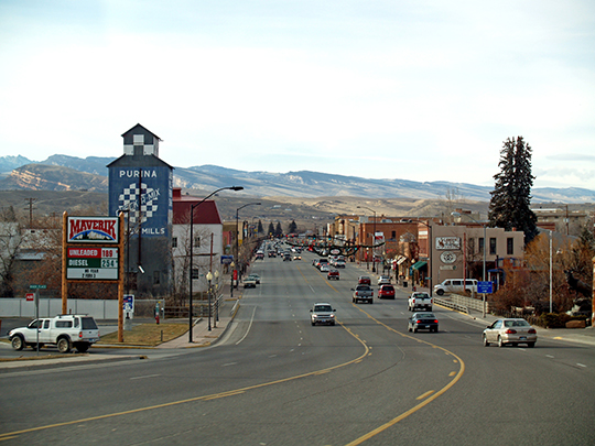 Downtown Lander, ca. 2008, seat of Fremont County, Wyoming.