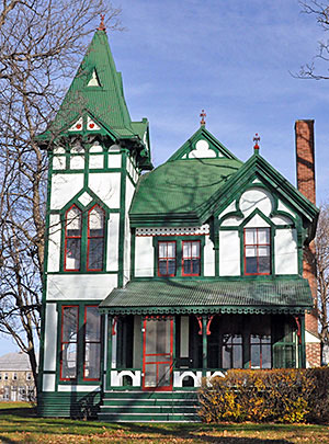 Photo: Gothic Revival style house in the Thousand Island Park Historic  District, Wellesley Island, Jefferson County,NY. Photographed by  user:Wellesleyisland ...
