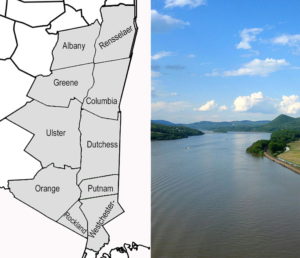 10 counties of the Hudson River Valley
