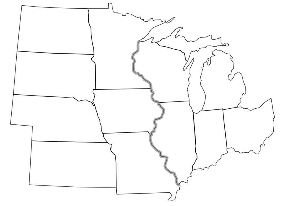 States in the U.S. Midwest
