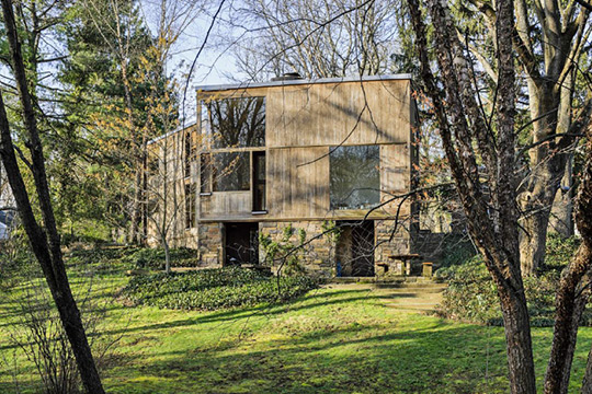 Fisher-Kahn House (Dr. Norman and Doris Fisher House), ca. 1967, 197 East Mill Road, Hatboro, PA, National Regisgter