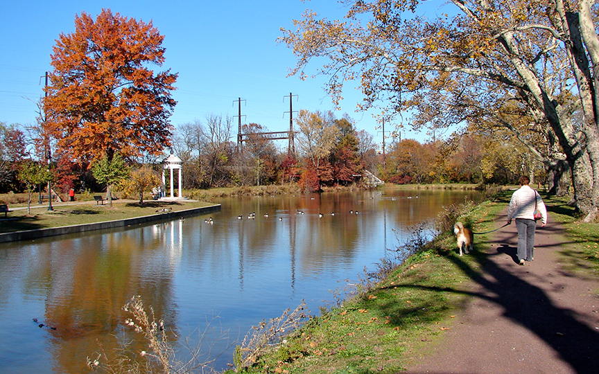 The Delaware Canal at Bristol, PA