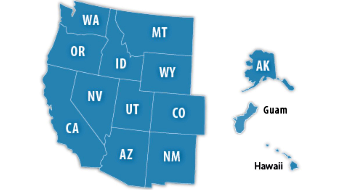 States in the U.S. West (Mountain and Pacific)